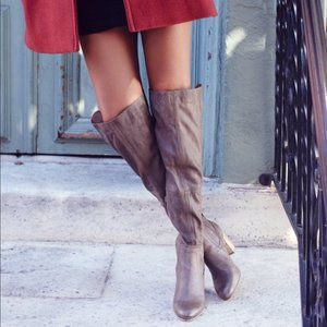 Free People OTK Over the Knee Taupe Gray Boots 39
